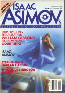 asimov's science fiction magazine january 1986